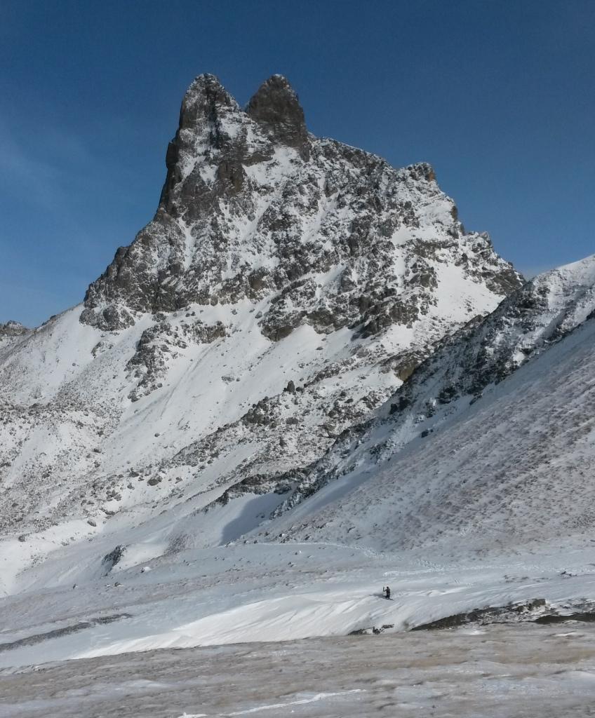 Première neige sur le Pic du Midi d'Ossau